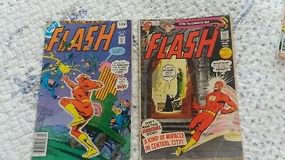 Flash Dc Comics #208 & 272 Used. Job Lot Read But Good Condition