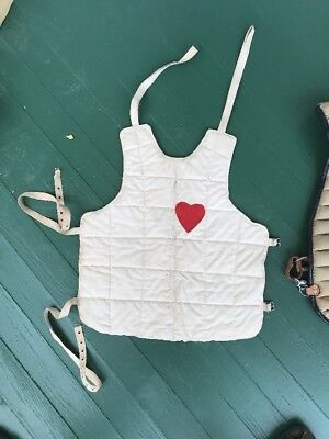 Antique Vintage Fencing Chest Protector Vest Quilted Guard