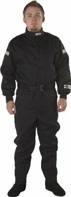 G-Force 4125XLGBK GF 125 Black X-Large Single Layer Racing Suit