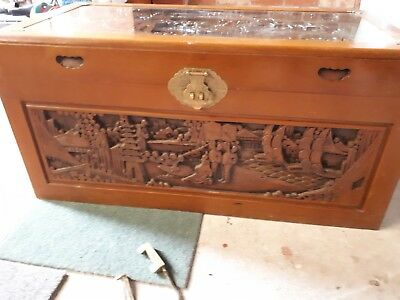 Chinese Camphor wood chest genuine 60's