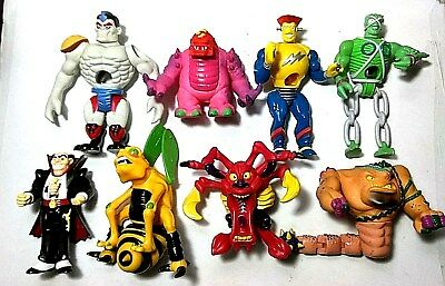 Lot of 9 Vintage 1994 Toymax Creepy Crawlers Action Figures - Rare!