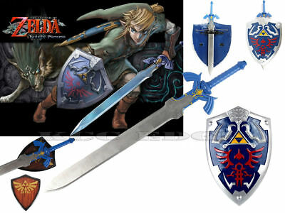 Legend of Zelda Link's Steel Master Sword w/ Shield Gift Cosplay Set Full Size