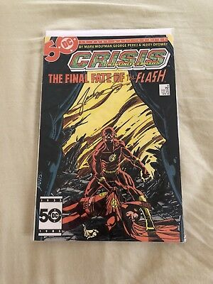 Crisis on Infinite Earths Final Fate Of Flash Signed By George Perez
