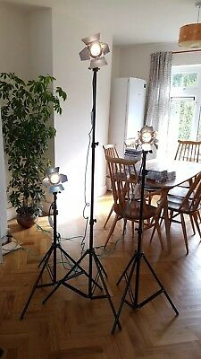 Par16 Parcan LED Photography Video Lights with Stands x3