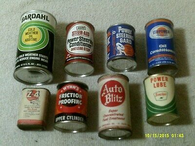 Lot of Collectible Vintage Oil & Automotive Related Cans - LOT OF 8