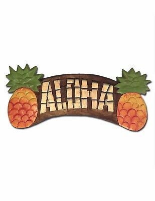 Painted Pineapples Aloha Home Plaque Sign