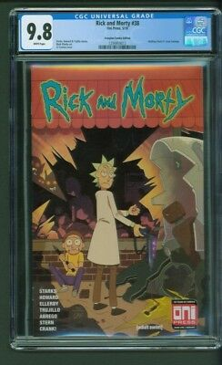 Rick and Morty # 38 CGC 9.8 Scorpion Comics Edition Variant Walking Dead Homage