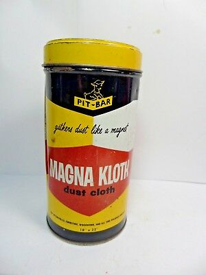 Vintage PIT-BAR MAGNA KLOTH Polishing Cloth Tin Can Automotive Advertizing1950's