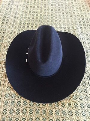 b9ace2d048253b RODEO KING BLACK FELT COWBOY WESTERN HAT 5X BEAVER QUALITY Ladies ...