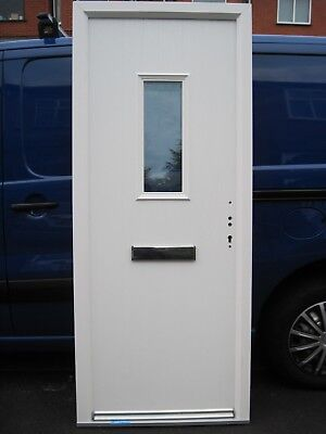 WHITE COMPOSITE FRONT Door with White Door Frame - Fire Rated Door ...