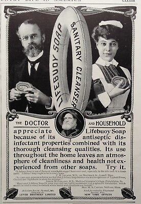 1903 Ad(G23)~Lifebuoy Sanitary Household Cleanser Saop, Lever Bros.