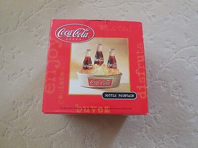 Coca Cola Collectible 3 Coke Bottle Light Up Table Water Fountain