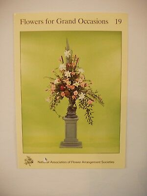 NAFAS Flower Arrangers Instruction Card No.19 Flowers for Grand Occasions