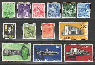 Nigeria 1961 Activities and Buildings Cplt Set of 13 VF MNH UMM