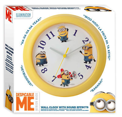 TRADE JOB LOT OF 20 X NEW Despicable Me 3 Clock with sound