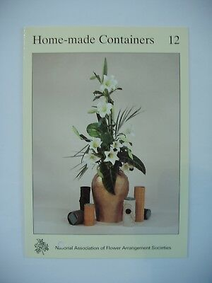 NAFAS  Flower Arrangers Instruction Card No.10 Home-made Containers Floristry