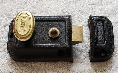 Vintage Antique Russwin Door Lock Deadbolt Latch Knob Nice Condition !!