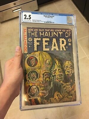 The Haunt of Fear #17 CGC 2.5 CR/OW Classic E.C. Zombie Precode Horror Cover