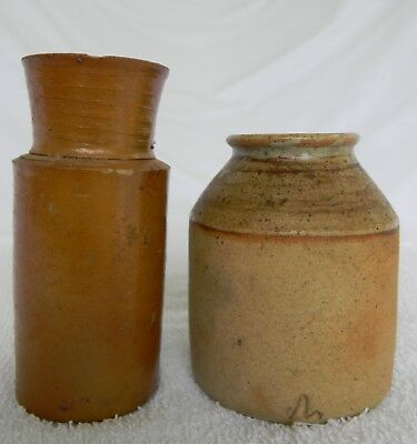 Antique Small Stoneware Glazed Jugs Very Good Condition