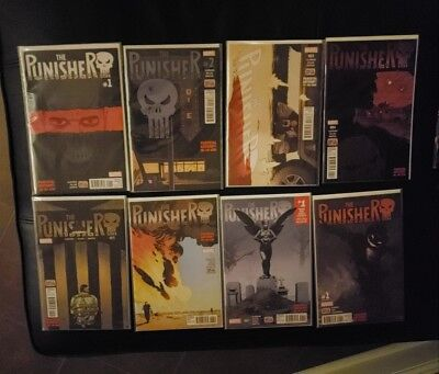 Punisher 1 2 3 4 5 6 (7 signed by Declan Shalvey cover artist) & Annual 1 NM
