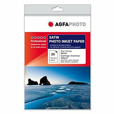 AgfaPhoto A4 Satin Professional Photo Paper Pack of 20
