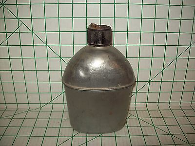 Vintage Wwii Us Military Metal 1 Quart Canteen Vollrath 1943 Us Army Usmc
