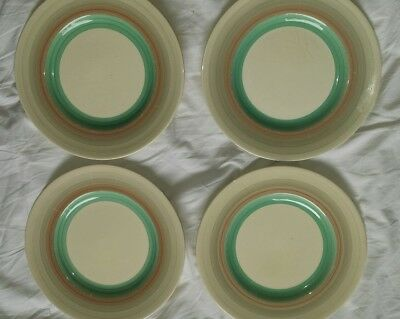susie cooper art deco wedding band x4 small side plates