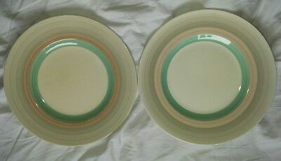susie cooper art deco wedding band X2 dinner plates