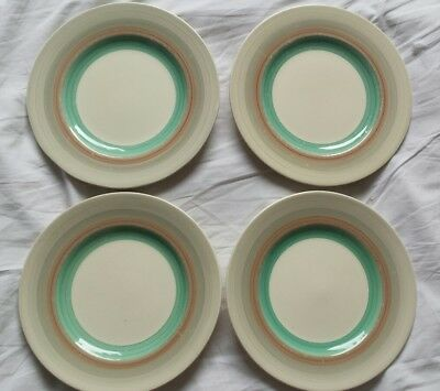 susie cooper art deco wedding band x4 medium side plates