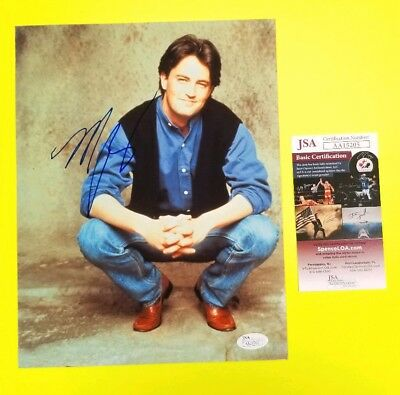 "Matthew Perry signed 8""X10"" Color photo Friends Certified Authentic with JSA COA"