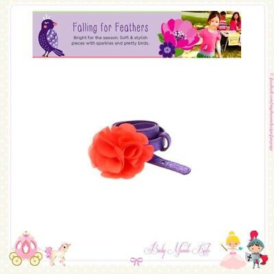 Gymboree Falling For Feathers Purple  Glitter Flower Belt NWT Size 3-4