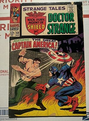 Strange Tales #159 (Aug 1967, Marvel) GD/VG  Steranko cover,art and story Cap!!!