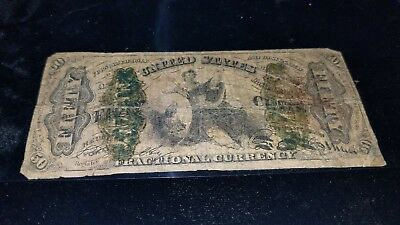"""Fr 1370 50 Cent Third Issue FRACTIONAL CURRENCY """"Circulated LOOK"""