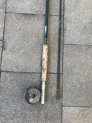 Shakespeare Wonderglass Rod and Buckley 530 Reel, Fly Fishing, Vintage, 8'6""