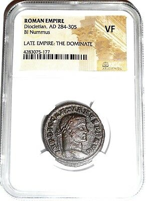 Roman Antoninianus of Diocletian Bi Nummus Coin NGC Certified  VF With Story