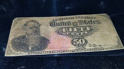1866 50 Cent Fractional Currency Fr# 1376 Item RARE version