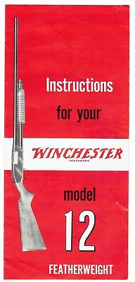 Vintage Winchester Model 12 Owners Instruction Manual