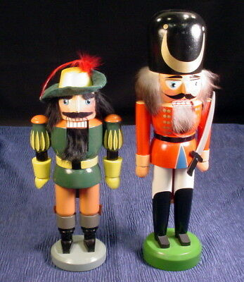 Vintage Lot Of 2 German Nutcrackers Rothenthal And Erzgebirger