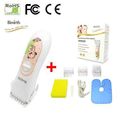 Baby Hair Clipper Waterproof Trimmer Hair Clippers Children Kids Rechargeable