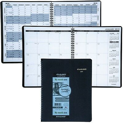"""2019 At-A-Glance 70-260, 70-260-05 Monthly Planner, 8-7/8 x 11"""", Black Cover"""