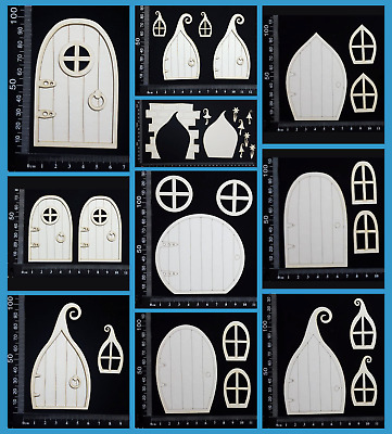 White Chipboard Embellishments - Fairy Doors - Collection One