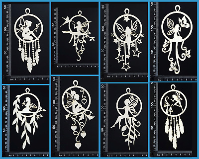 White Chipboard Embellishments - Dreamcatchers - Fairy