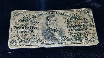 FR-1294 Third Issue 25 Cent ** Circ ** FRACTIONAL (( Green Back ))