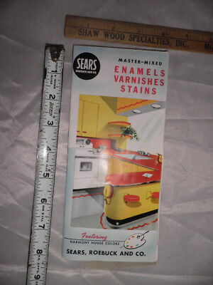 Antique Sears Master-Mixed Enamels Varnishes Stains Brochure