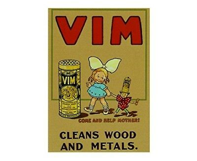 Vim cleans wood and metals come and help mother retro shabby chic vintage