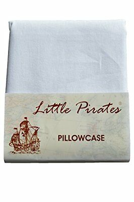 Brand New Baby Cot Bed Pillow Case 60 x 40 - 100 Cotton - White