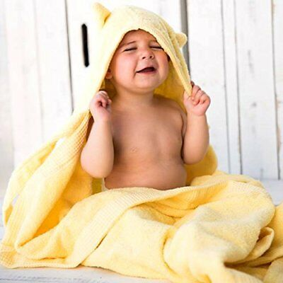 Kids Baby Bath Large Towel 80x135cm Cute Cat Hooded Ultra-soft Flannel Bathing W