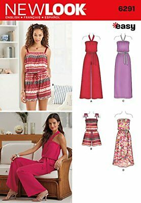8263777ed0c New Look 6291 Size A Misses Jumpsuit and Dress Each in 2 Lengths Sewing  Pattern
