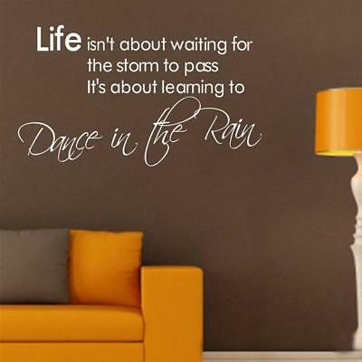 Wall Sticker LIFE Letter Words PVC Removable Room Decal Art DIY Home Decor D