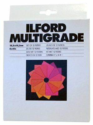 Ilford MultigradePack of 12Filters Photo, 15.2x 15.2cm, White